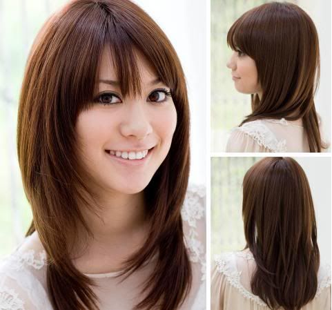 cute-asian-hair-long-dark-brown-layer-with-bangs