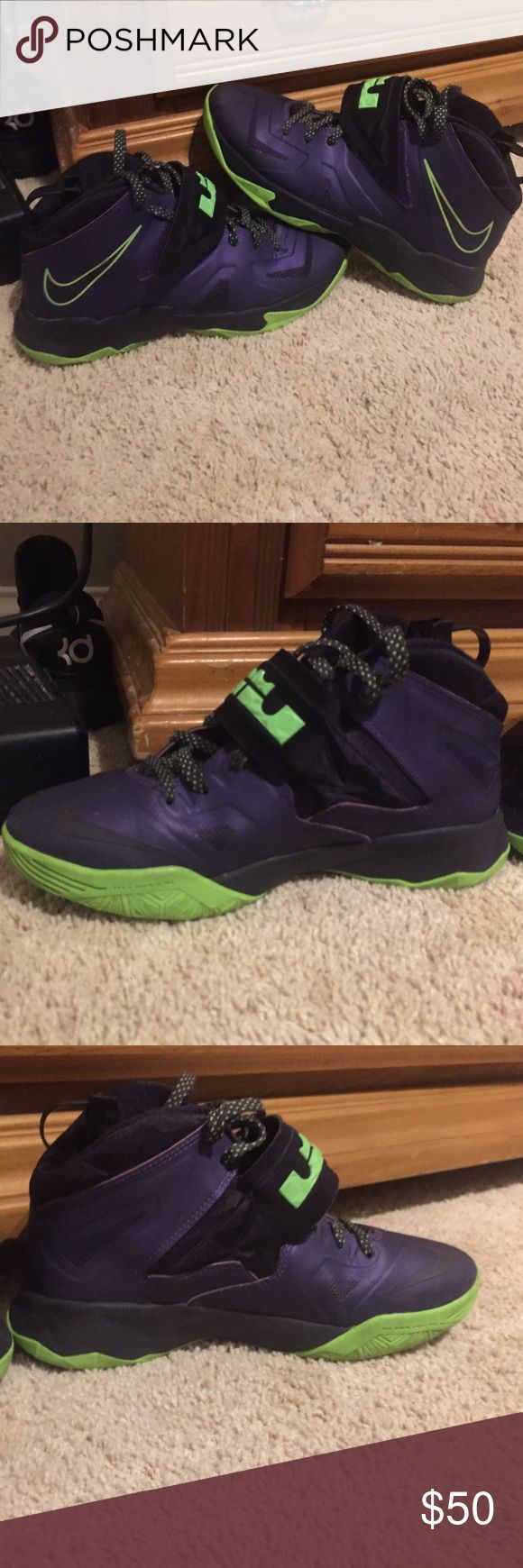 Lebron 7 grapes 9/10 condition. Bought them brand new then didn't like them, wore a few times Nike Shoes Athletic Shoes