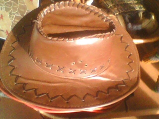 African leather hat