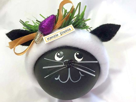 Regali personalizzati di BLACK CAT Ornament di TownsendCustomGifts