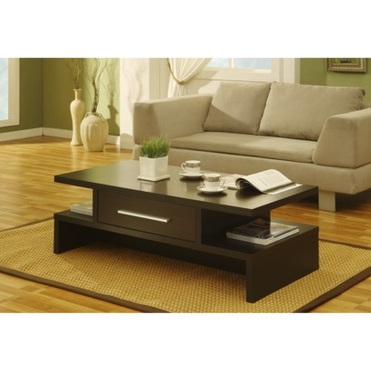 Furniture Of America Tiki Two Side Open Coffee Table Espresso