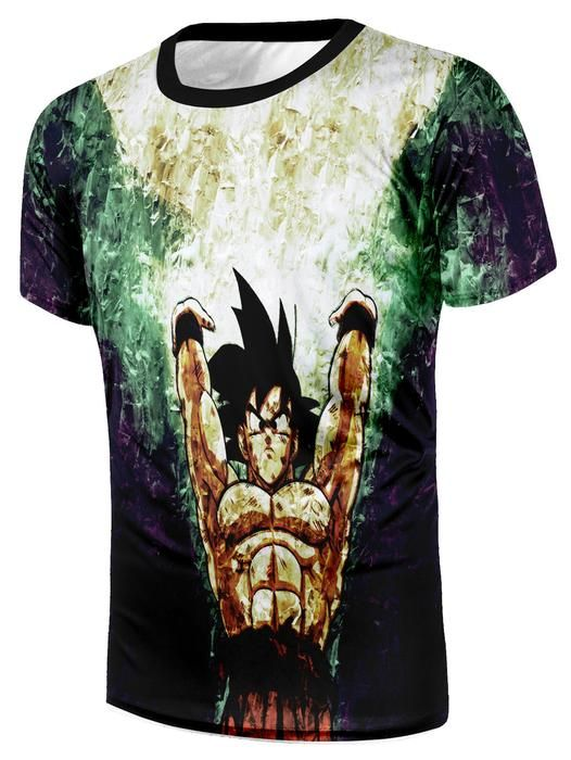 33a072f2658eff Dragon Ball Goku Spirit Bomb Destruction Skill Streetwear Design T-Shirt   dbz  dragonball  anime