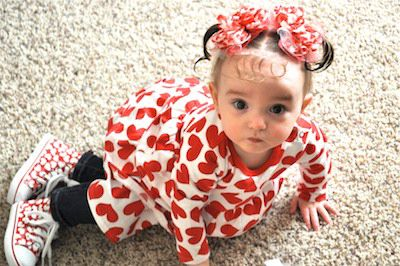 Valentine Heart Bows {Made-to-Match}