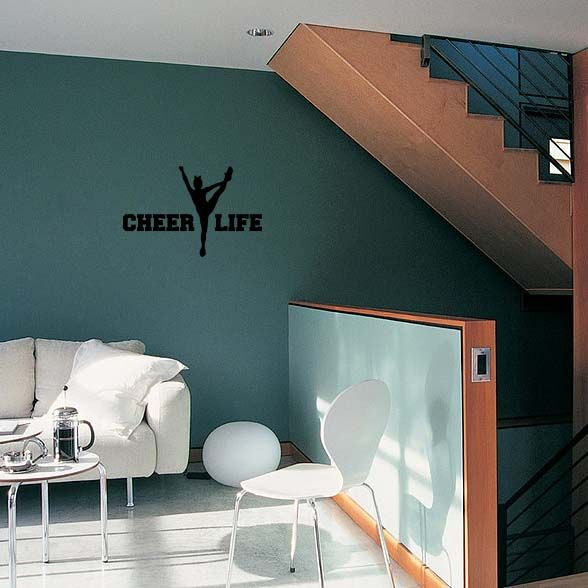 Awesome cheer life wall art decal for Cheerleader wall mural