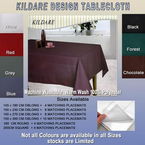Kildare Tablecloth and Placemats Special Promotion Deal