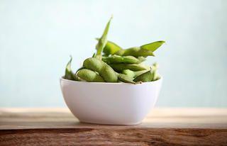 1) Organic Edamame http://www.rodalesorganiclife.com/food/the-20-highest-protein-vegetarian-foods/19-broccoli