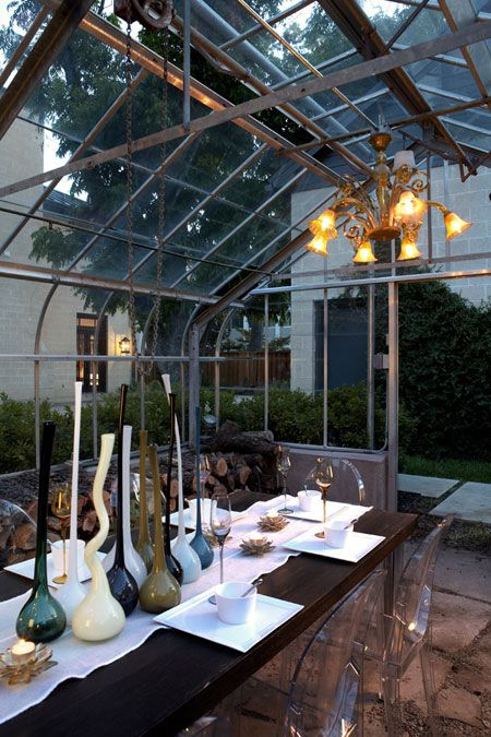 almost-outdoor dining roomOutdoor Dining, Dining Area, Dining Room, House'S Modern Craftsman Beth, Greenhouses Dining, Outdoor Room, Green House, Outdoor Spaces, Greenhouses Area