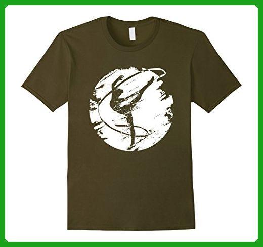 Mens Funny Lady Gym Tshirt Large Olive - Workout shirts (*Amazon Partner-Link)