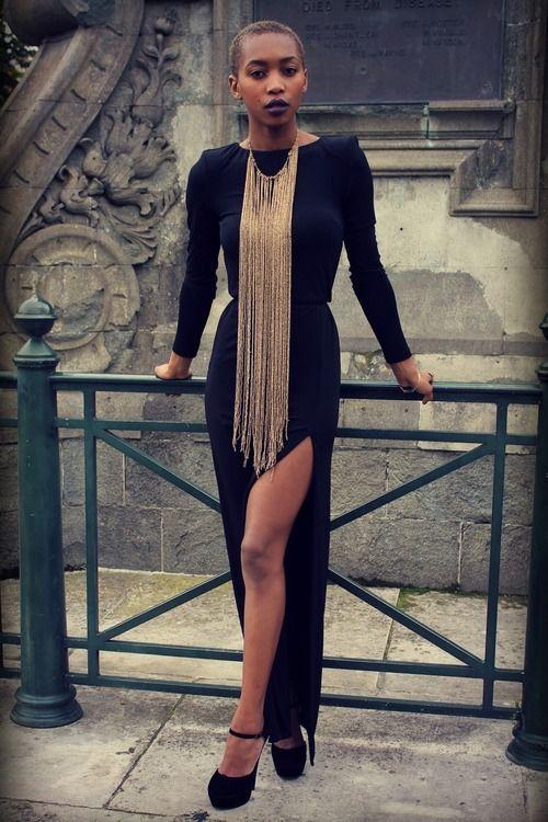 blackfashion:    Marisa Martins, 22, Londonwww.themessywardrobe.tumblr.comDress - Topshop Necklace - Topshop Shoes - Internacionale  #BlackfashionFacebookTwitter@BlackFashionbyj