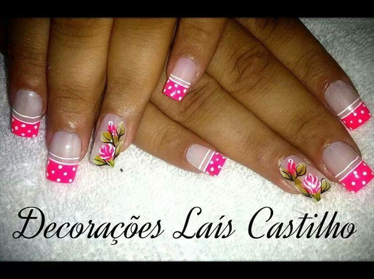 nails very sweet and girly