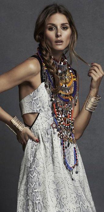 Olivia Palermo • Boho Princess ≫∙∙☮ Bohème Babe ☮∙∙≪• ❤️ Babz™ ✿ιиѕριяαтισи❀ #abbigliamento #bohojewelry #boho