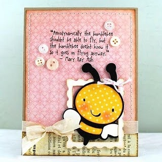 fantastINK Card: Cards Minialbum, Cards Ideas, Crafts Cards, Bees Cards, Cards Shap, Cards Pap Crafts, Cards Critt, Crafty Cards, Homemade Cards Scrapbook