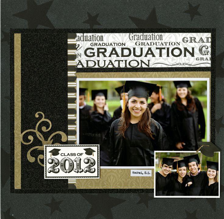 graduation scrapbook layouts | Graduation LO card - Reminsce | scrapbook layouts - school