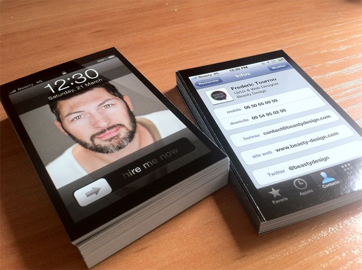 iPhone Business cards ! - Business Cards - Creattica