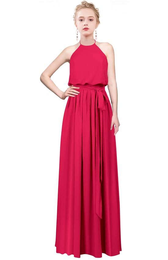 5a759c7ba4f6 2019 的 halter bridesmaid dress | MenaliaDress Long Bridesmaid ...