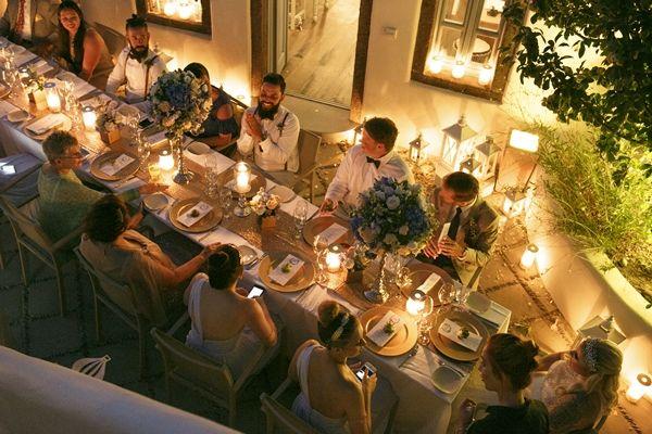 Intimate luxury Wedding in Santorini
