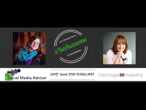 Three ways to move forward if you haven't been preserving memories and photos, plus using Heritage Makers personal publishing for business!  BeLiveTV interview with the Social Media Advisor Hollie Clere and Heritage Makers consultant Jennifer Wise