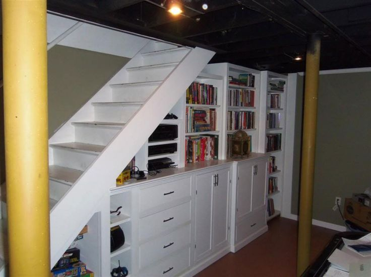 Bookshelves Under Stairs 26 best bookcase under stairs images on pinterest | stairs, wet