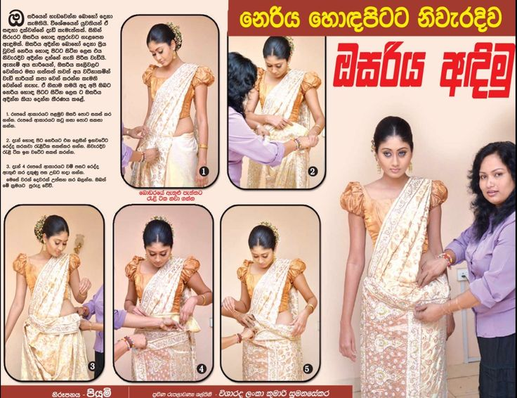 How the Kandyan saree (Osariya) is draped.....