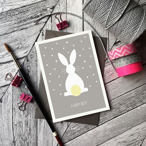 @beedesigns on Instagram new baby card