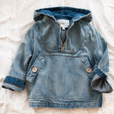 Esp no. 1 sunfaded anorak. Not such a fan of the denim, but like the placket to adjust some other patterns.
