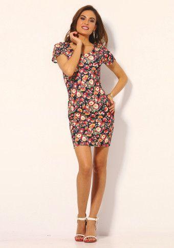 Krátke šaty s potlačou kvetov #ModinoSK #fashion #dress #flowers #kvety #moda