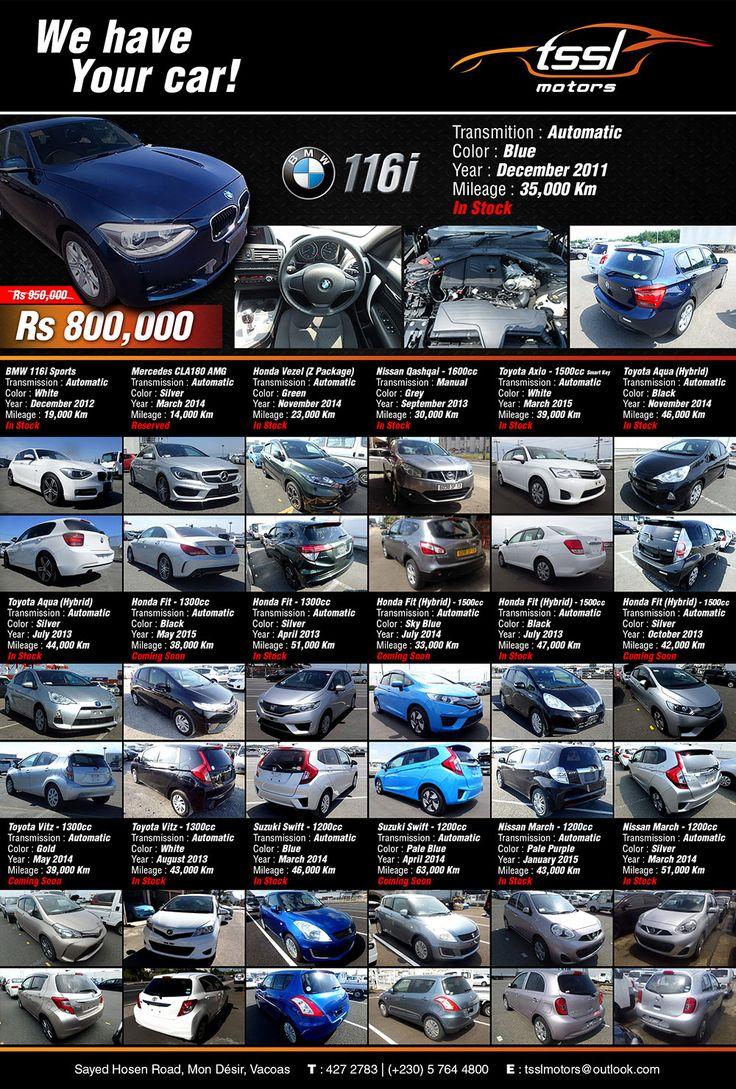Tssl motors we have your car call 427 2783 57 64 48 00
