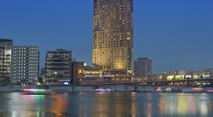 Ramses Hilton Hotel & Casino Cairo Overlooking the Nile River and just a 5-minute walk  from the Cairo Museum, the Ramses Hilton boasts an elevated pool terrace heated in the winter, an on-site casino and gym. Guest rooms feature balconies offering Nile or panoramic city views.