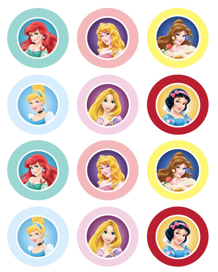 Cupcake toppers prinsessen | Princess cupcake toppers ...