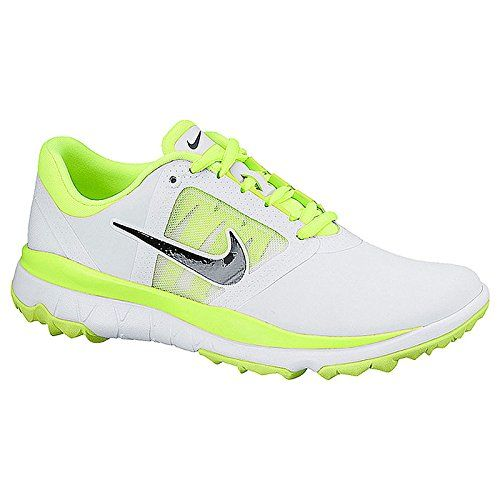 Nike Golf women's FI Impact Golf Shoe, White/ Neon Green 8.5 B(M