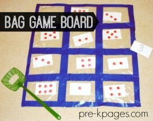 Bag Game Board for Preschool and Kindergarten