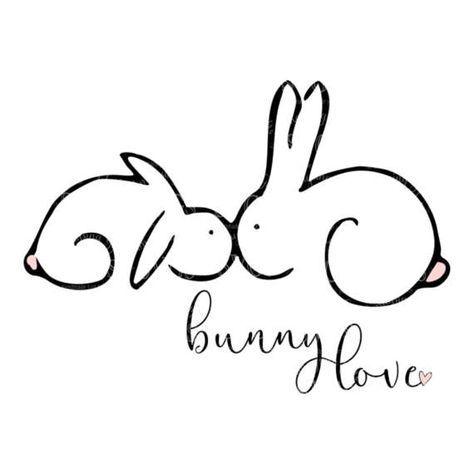 SVG – Bunny Love – digitale Vektor Download Häschen liebe SVG ist eine schöne …