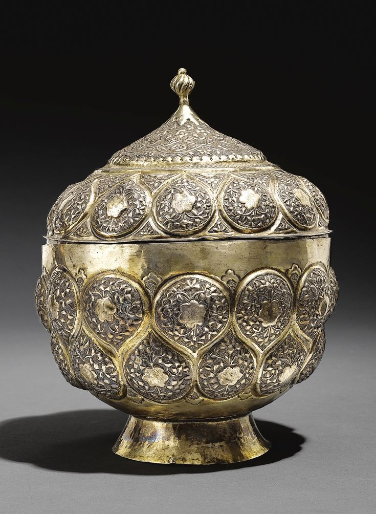 A Parcel-Gilt Silver Bowl with Cover, Turkey, 17th century   lot   Sotheby's