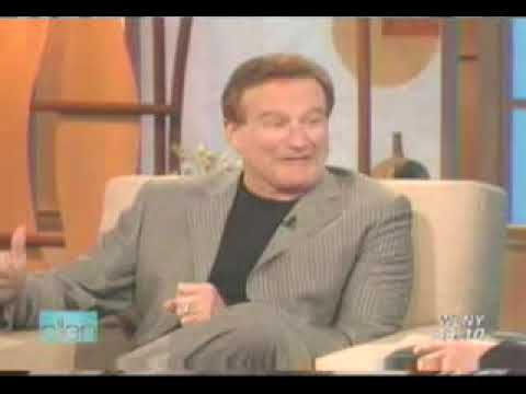 Robin Williams on Ellen Degeneres. I've never before seen her cry with laughter. Starts out slow, but just keeps getting better!