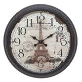 Found it at Wayfair - Eiffel Tower Wall Clock