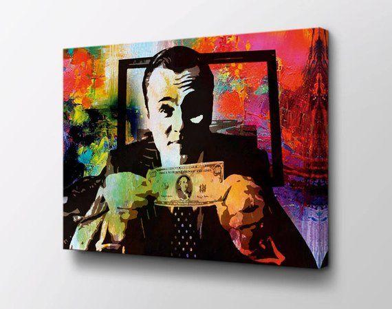 Leonardo Dicaprio Wolf Of Wall Street Canvas Wall Art Money Talks Original Design By Epik Read Motivational Wall Art Wolf Of Wall Street Canvas Wall Art