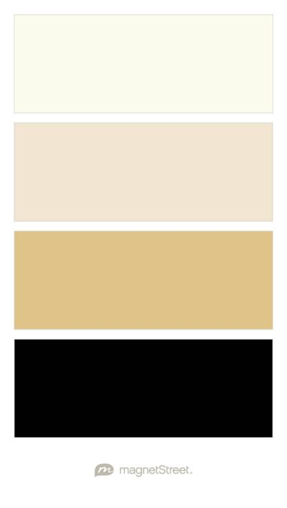 Ivory, Champagne, Gold, and Black Wedding Color Palette - custom color palette created at MagnetStreet.com