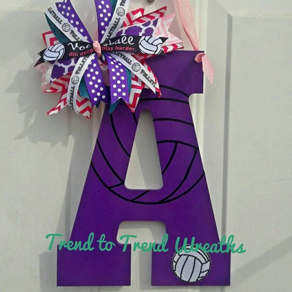 Check out this item in my Etsy shop https://www.etsy.com/listing/489437187/wooden-volleyball-letter-volleyball