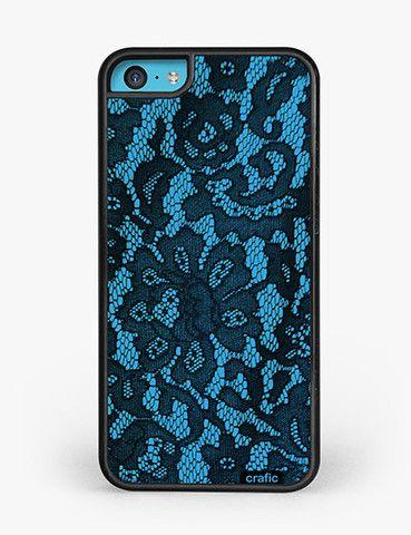 Blue Lace Print iPhone 5C Case