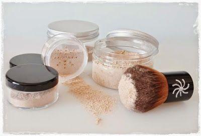 como hacer mineral foundation, hacer polvos faciales en casa, maquillaje casero