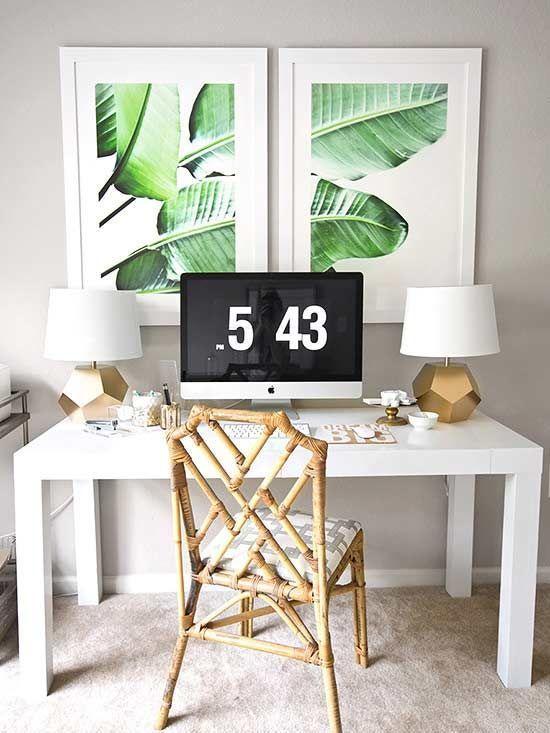 Crushing On Banana Leaf Print BHG\u0027s Best Home Decor Inspiration - home office arbeitnehmer arbeitgeber