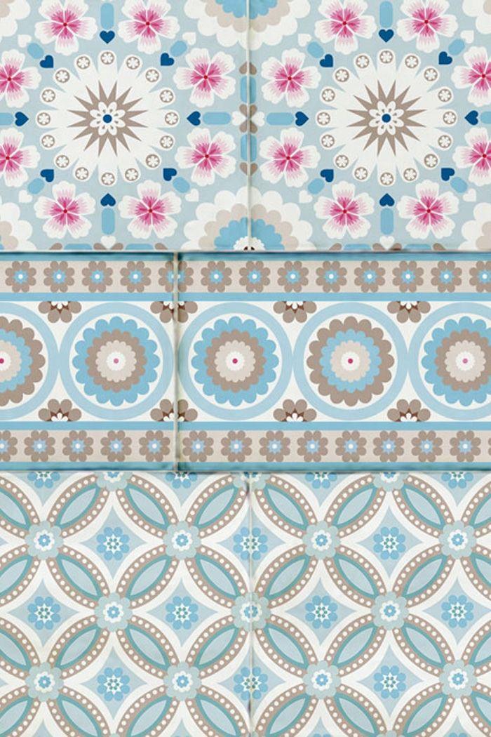 PiP Bright Tiles behang