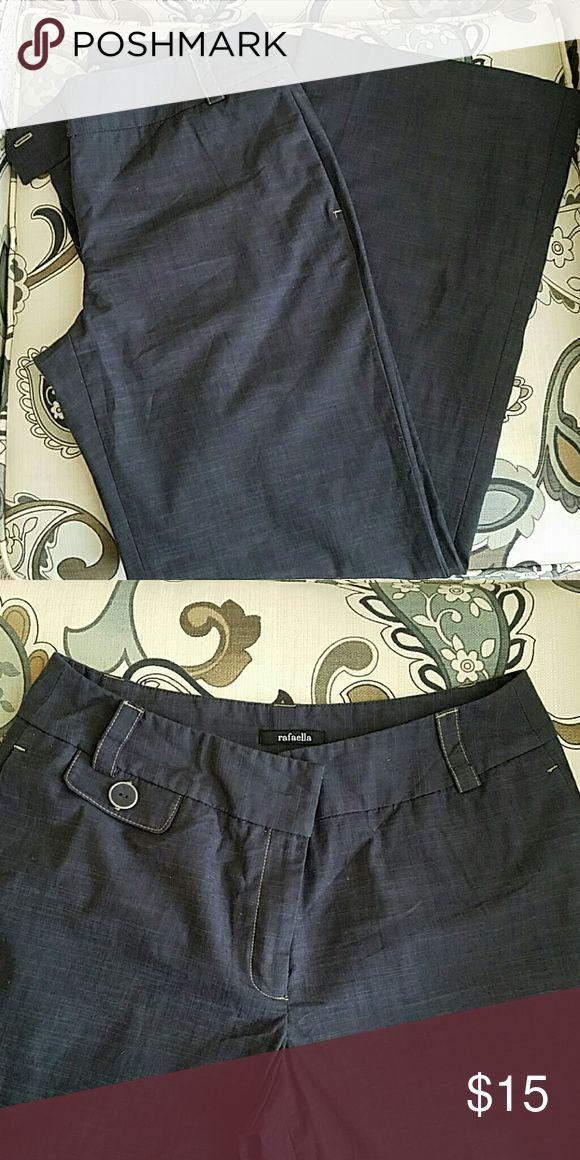 Rafaella slack Slate Gray slack, pairs well with a stiletto boot. Rafaella Pants Trousers