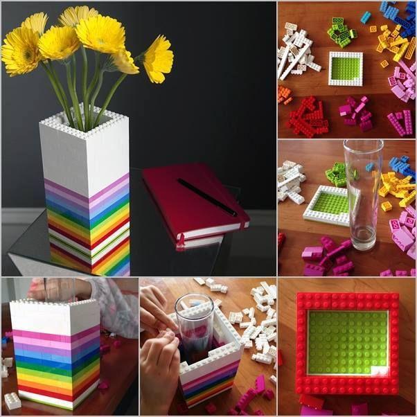 Vaso de plantas feito com Lego :)