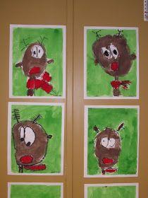Cette semaine, nous avons peint des rennes au nez rouge. Nous voici lors des différentes étapes...   Les lutins de Francesca    Nous nous pr...