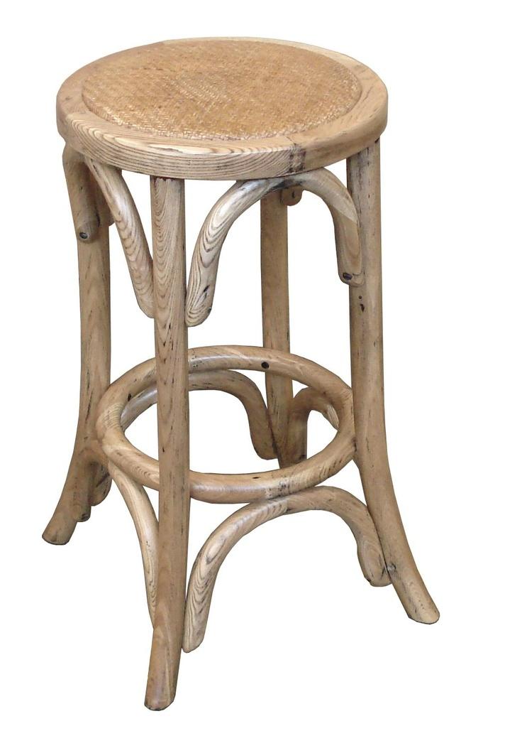 Provincial Oak Breakfast Stool - $119  http://www.stoolsandchairs.com.au/provincial-crossback-breakfast-stool-natural/  #French #provincial #oak #crossback #breakfast #stool