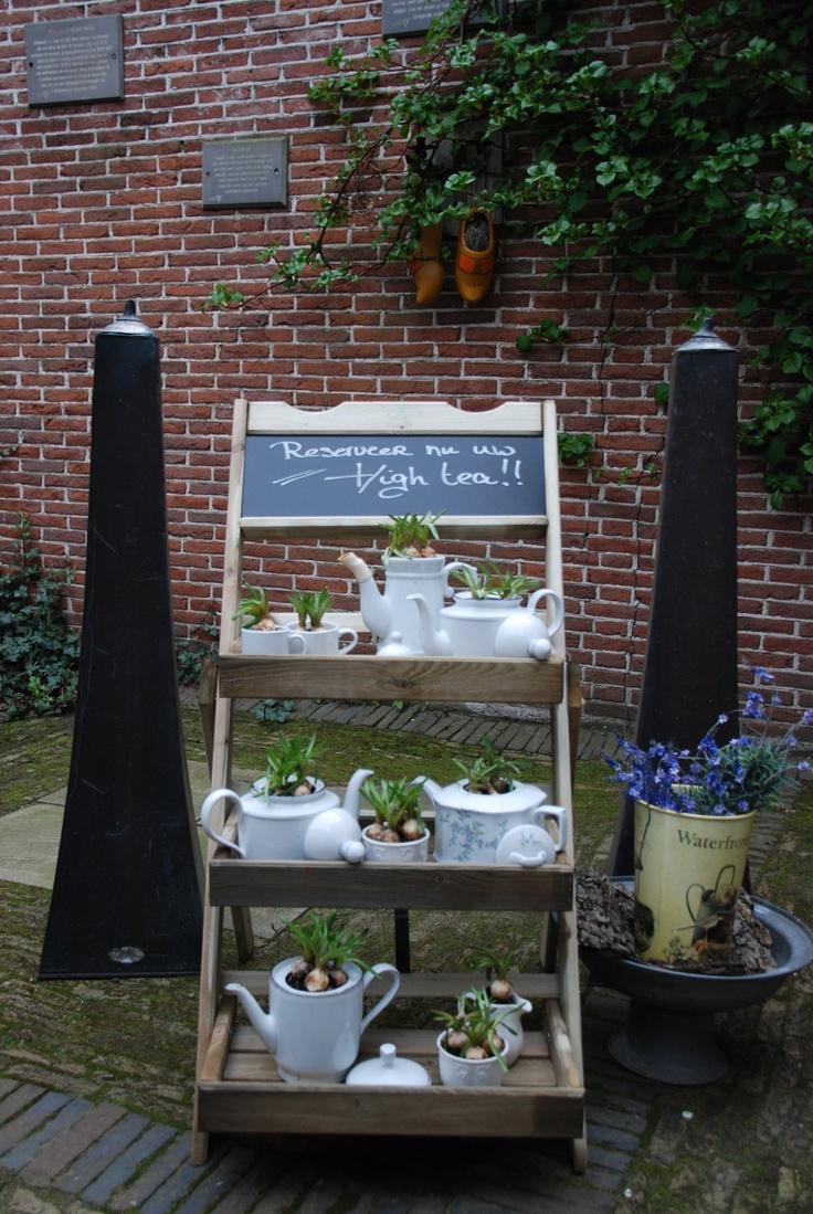Thee potten bij de kringloop en je hebt een leuke deco home deco pinterest charity - Tuin en deco ...