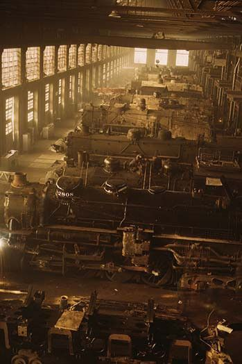 Chicago and Northwestern railroad locomotive shops, Chicago, Ill.