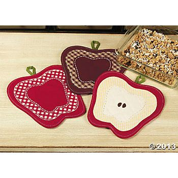 Apple Decor Kitchen Accessories | Apple Hot Pads   Terryu0027s Village Holiday  Decor   Discontinued