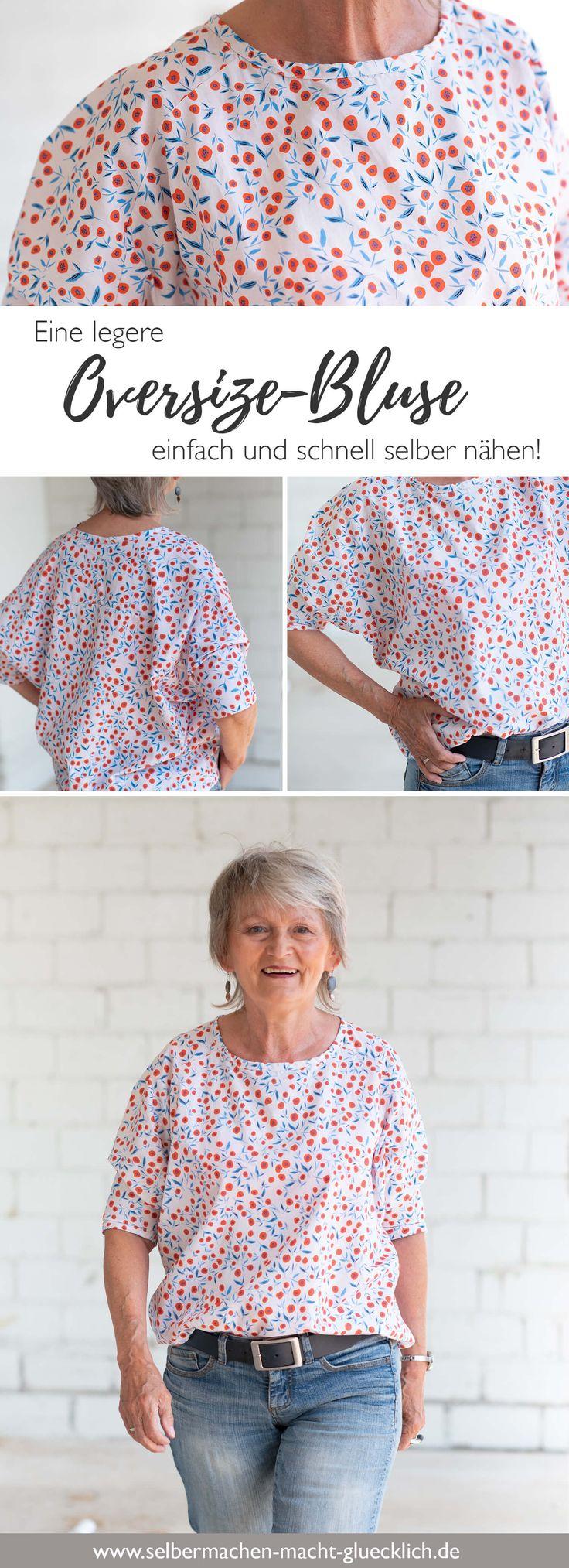 Eine legere Oversize-Bluse einfach selber nähen!